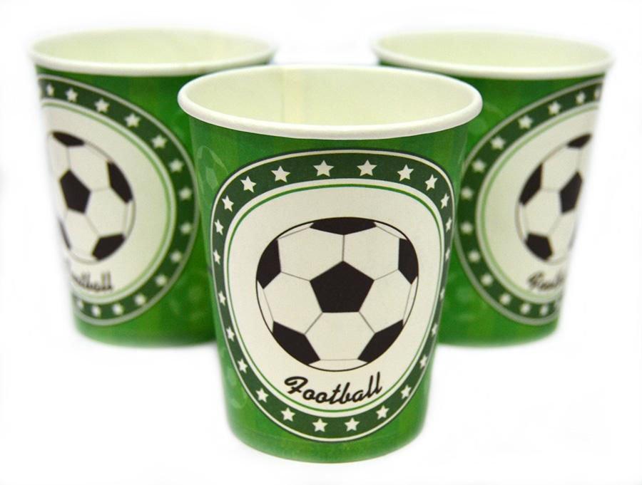 Праздничные стаканы в стиле футбол
