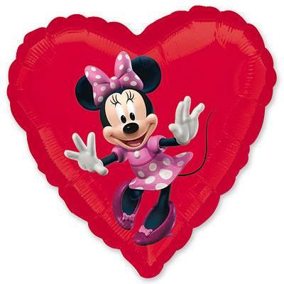 Шар в форме сердца Мини Маус - 4party