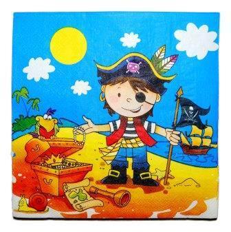 Бумажные салфетки в стиле пиратов – 4party.ua