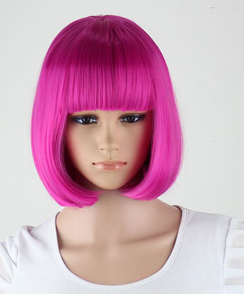 Каре розовые волосы