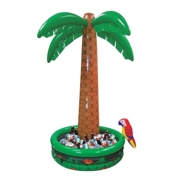Надувной бассейн с пальмой