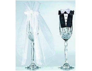 Декоративные бокалы для свадьбы