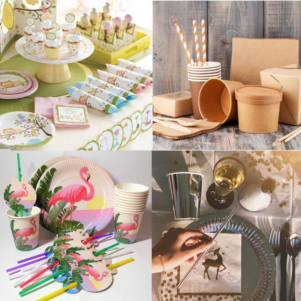 Как красиво сервировать стол одноразовой посудой - фото 2 | 4Party