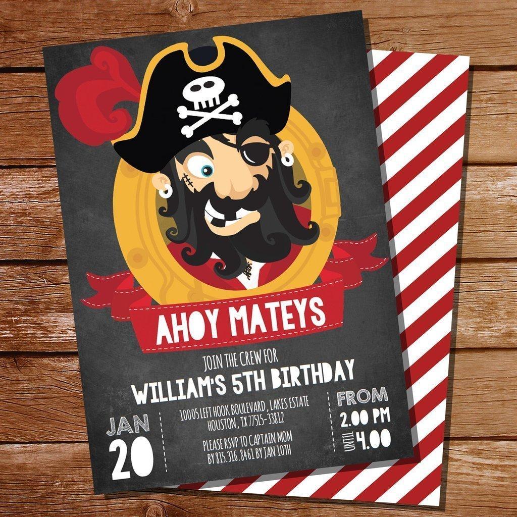 ТОП-5 идей оформления пригласительных для пиратской вечеринки - фото 3 | 4Party