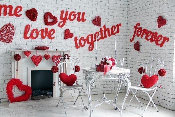 Романтические украшения для дома