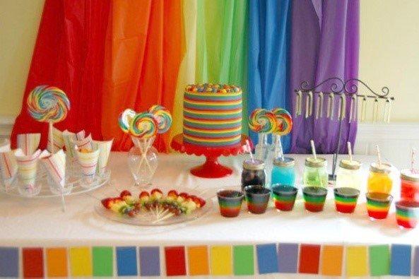 Цветная вечеринка Радуга - 4party.ua