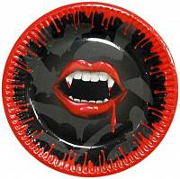 Черно-красная тарелка